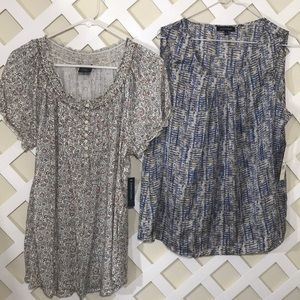 NOTATIONS FADED GLORY lot of 2 sz Large tops.
